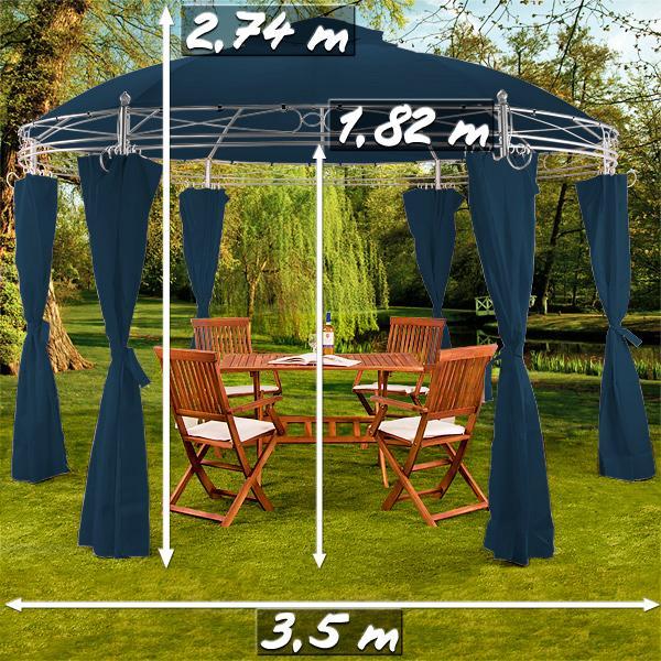 Tonnelle de jardin ronde 350 cm - Tonnelle ronde de jardin ...