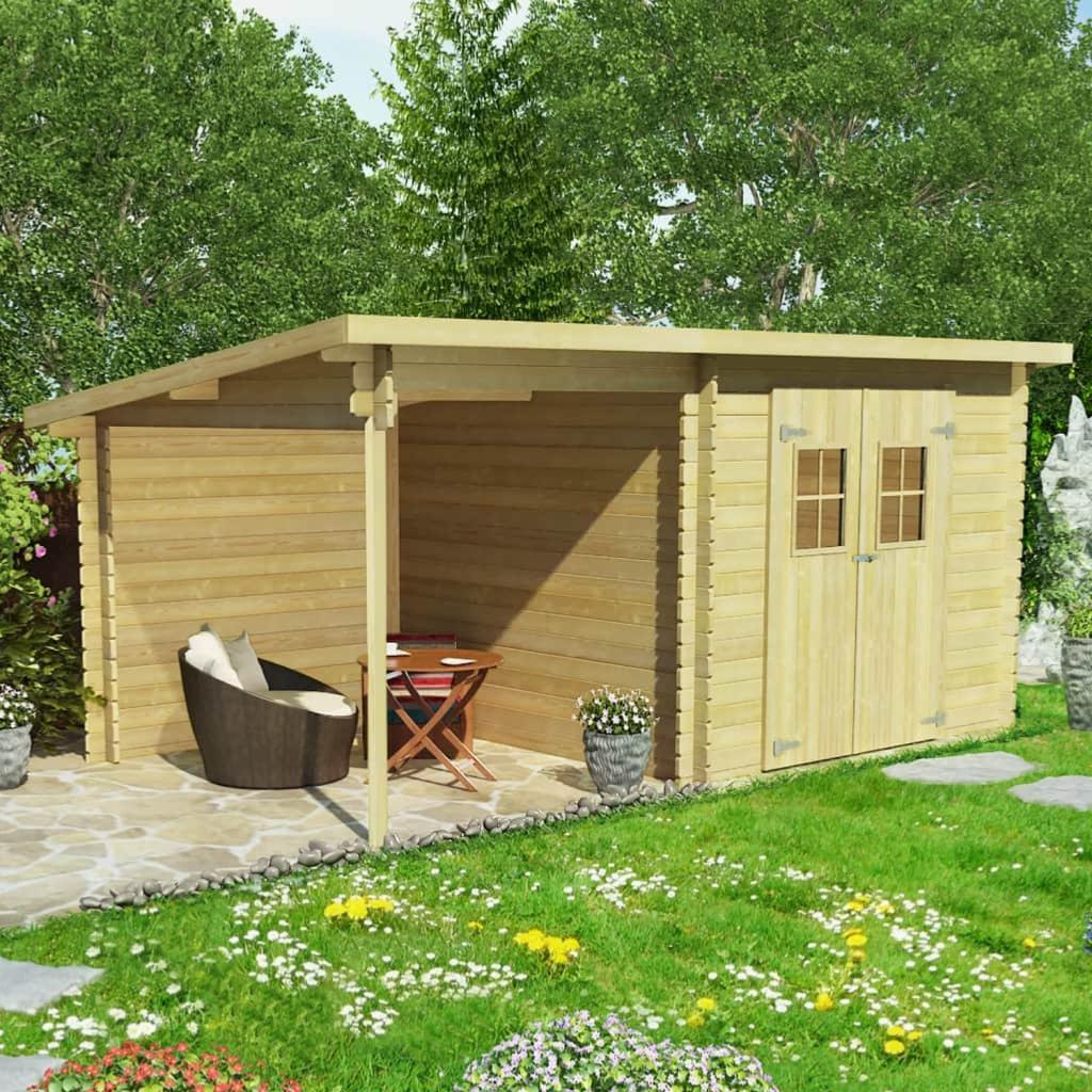 Abri de jardin montage r versible de 16 m - Abri de jardin avec extension ...