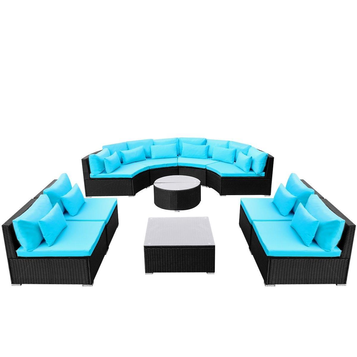 salon de jardin r sine tress e modulable noir 12 personnes. Black Bedroom Furniture Sets. Home Design Ideas