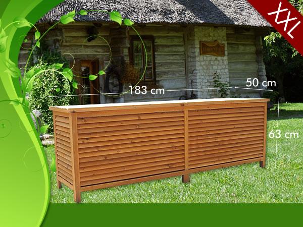 Coffre de rangement en bois massif xxl - Quel bois pour l exterieur ...