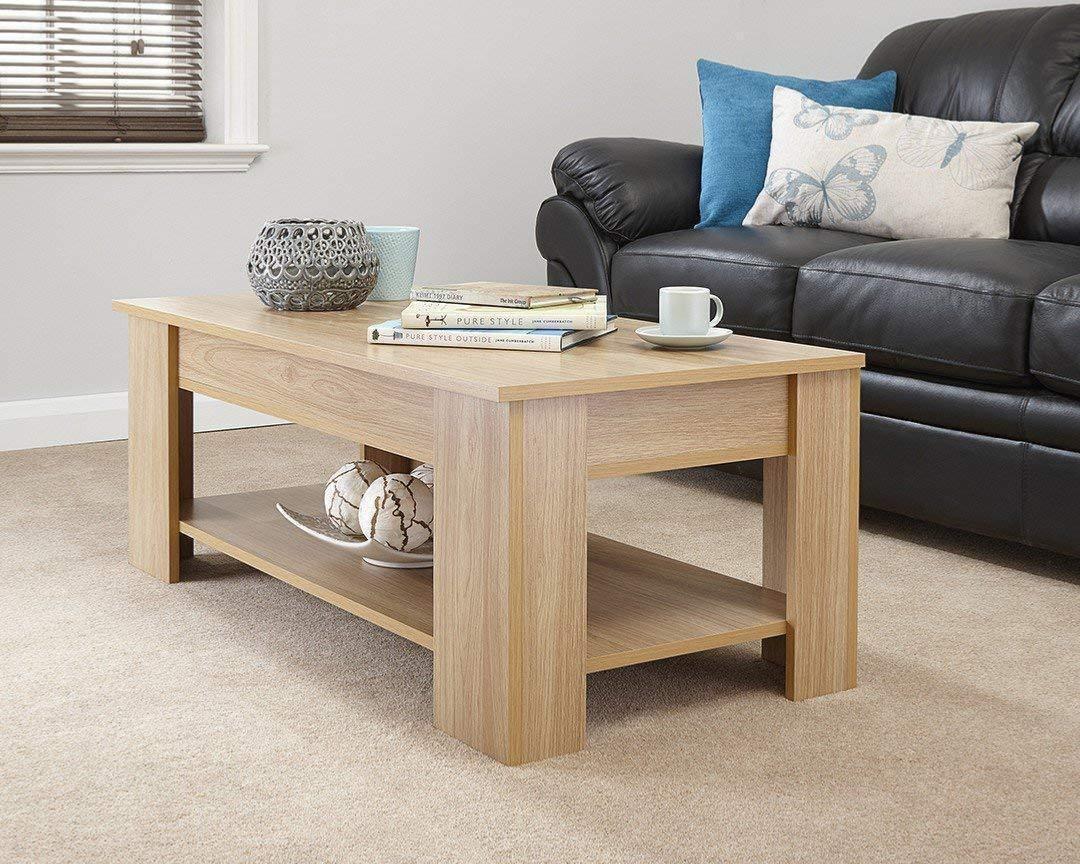 Table basse 100 cm avec plateau relevable mod le galion - Modele table basse ...