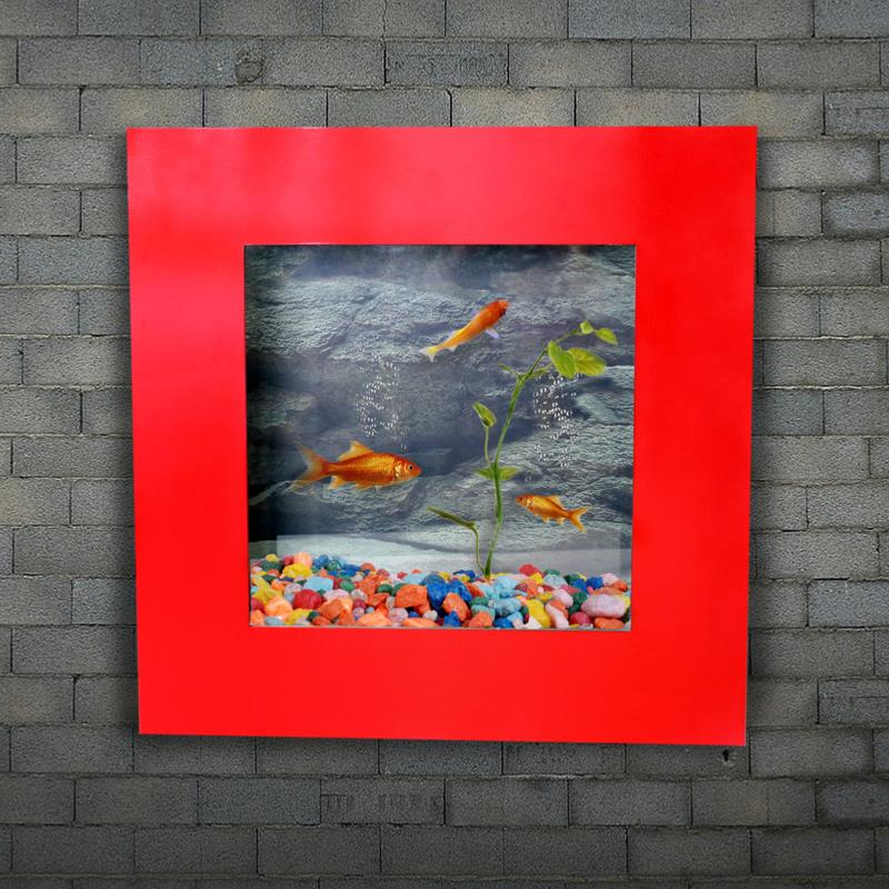 aquarium mural, aluminiumverre, 560 x 560 mm, rouge