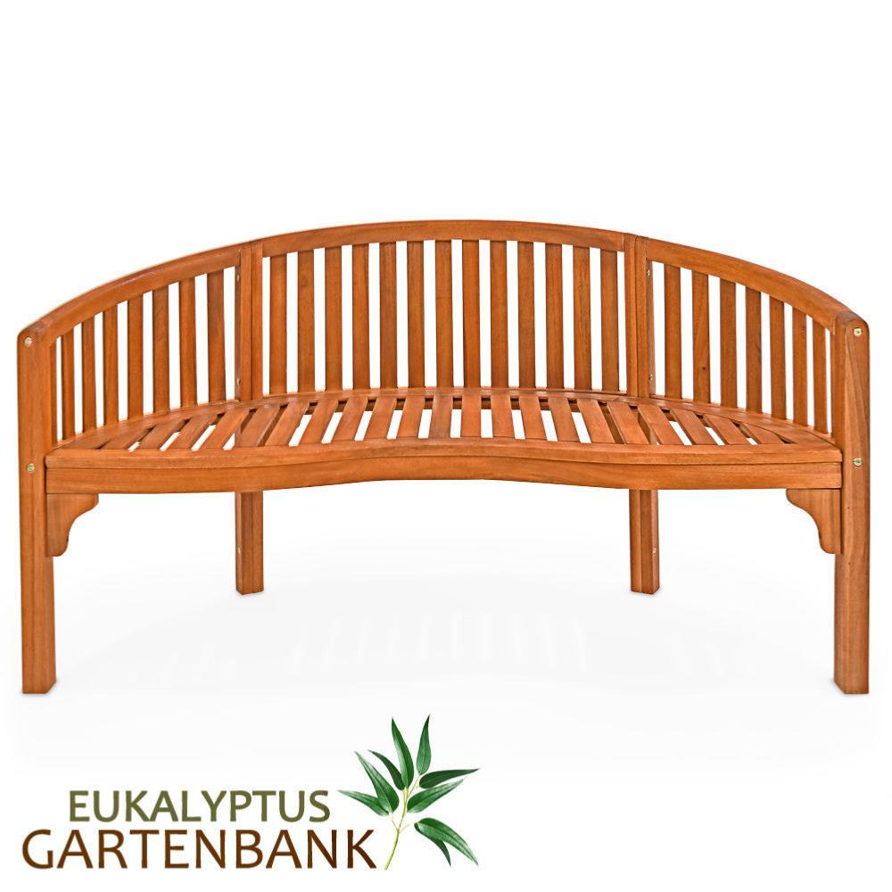 banc de jardin design semi circulaire en eucalyptus. Black Bedroom Furniture Sets. Home Design Ideas