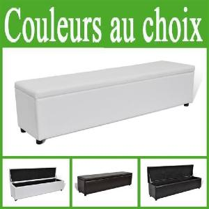Banc Banquette Coffre De Rangement 120 Cm Marron