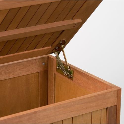 coffre banc de rangement en bois exotique. Black Bedroom Furniture Sets. Home Design Ideas