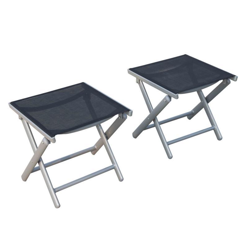 repose pieds alu pour chaise de salon de jardin