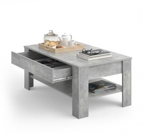 Table basse avec tiroir couleur b ton mod le kiel - Modele table basse ...