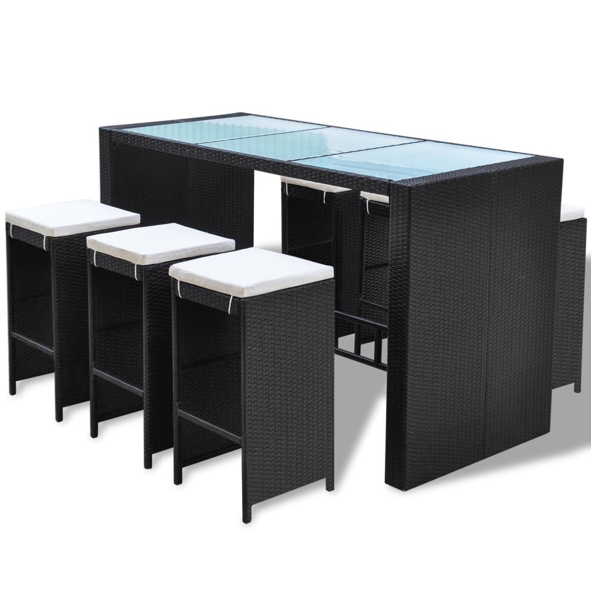 bar jardin r sine tress e noir 6 personnes mod le hawai. Black Bedroom Furniture Sets. Home Design Ideas