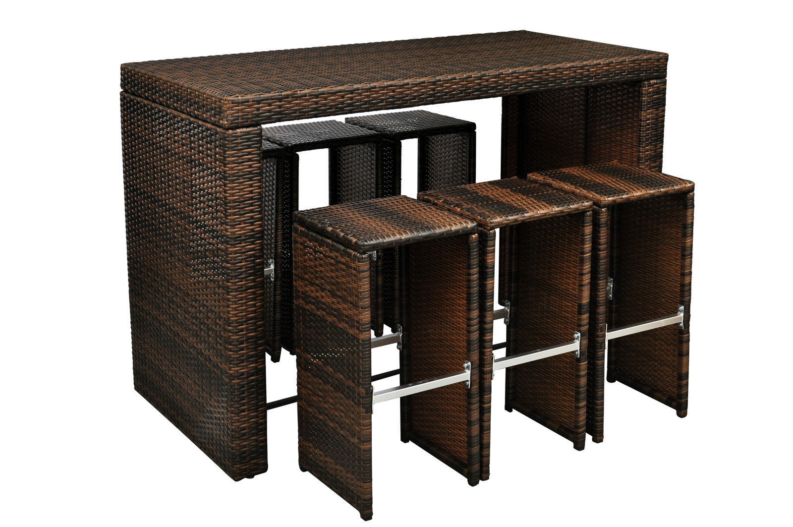 bar de jardin complet en r sine tress e. Black Bedroom Furniture Sets. Home Design Ideas