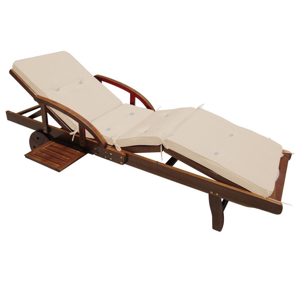 coussin cr me pour bain de soleil et transat. Black Bedroom Furniture Sets. Home Design Ideas