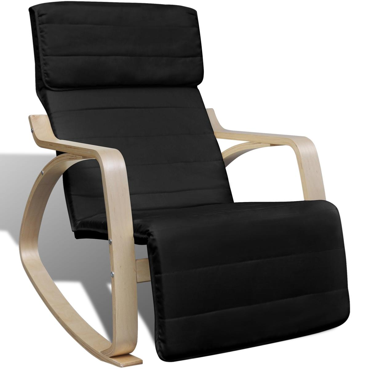 rocking chair design en bois de bouleau 2 coloris. Black Bedroom Furniture Sets. Home Design Ideas