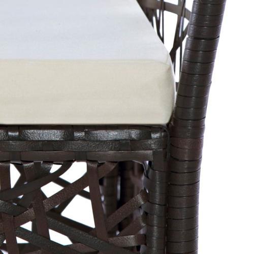 Salon de jardin résine tressée, marron, 4, 6 ou 8 places, modèle JAVA