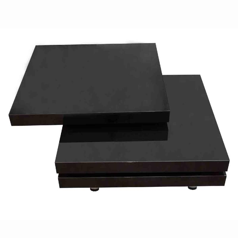 table basse pivotante ronde mod le onde noir ou blanc. Black Bedroom Furniture Sets. Home Design Ideas