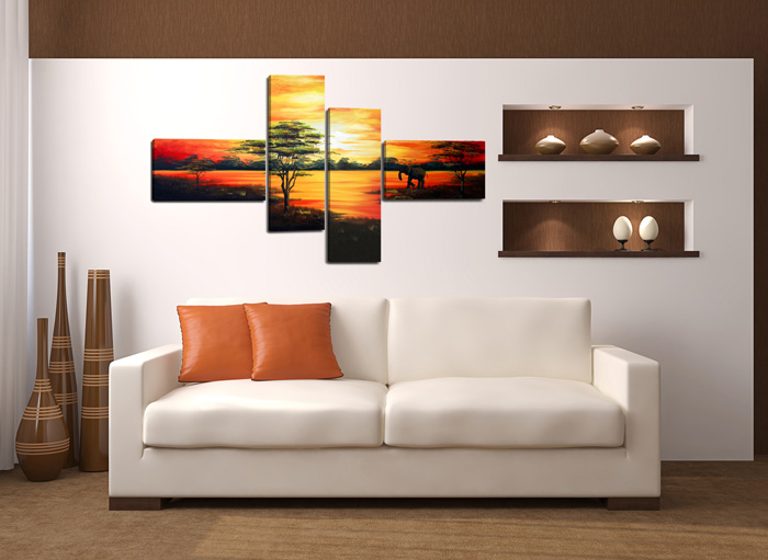 tableau prestige g ant 160 x 70 cm sur toile. Black Bedroom Furniture Sets. Home Design Ideas