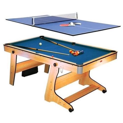 BILLARD 6 Ft pliable et transformable en table de ping-pong.