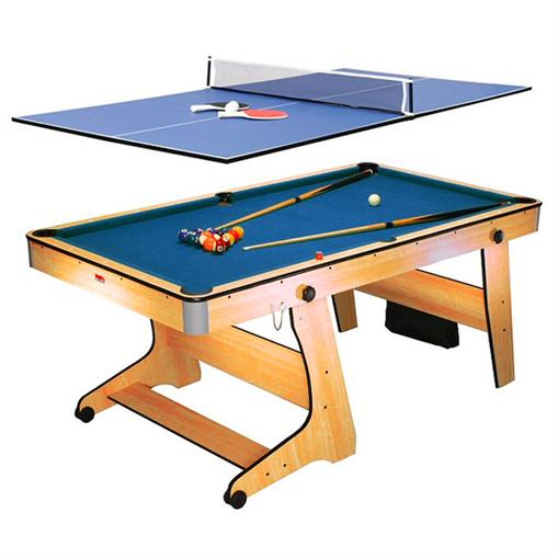 Billard table de ping pong 6 ft pliable - Billard transformable en table ...
