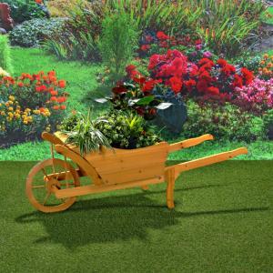 Brouette d co en bois - Brouette de jardin en bois ...