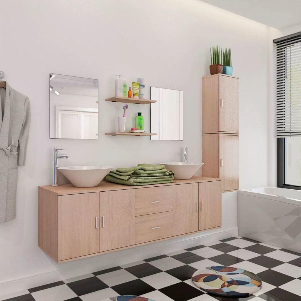 Meubles pour salle de bain ensemble haut et bas et lavabo - Fabricant meuble de salle de bain ...