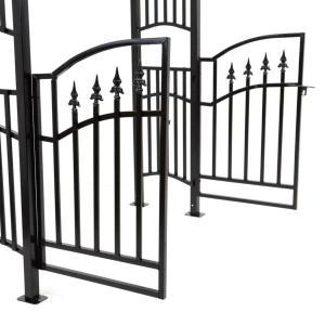 PERGOLA noir avec portillon, en métal, petit prix