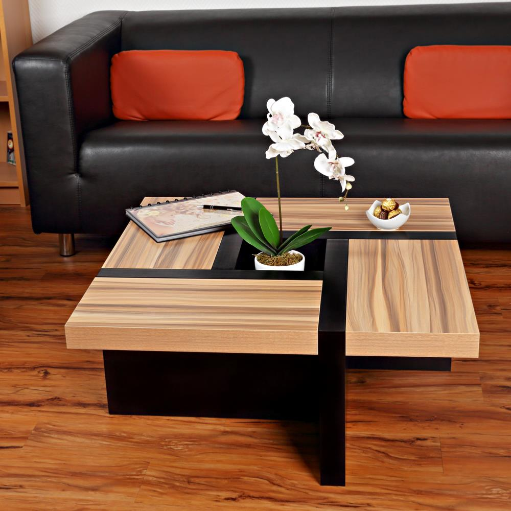 Table basse mod le oregon noir brun - Table basse brun noir ...