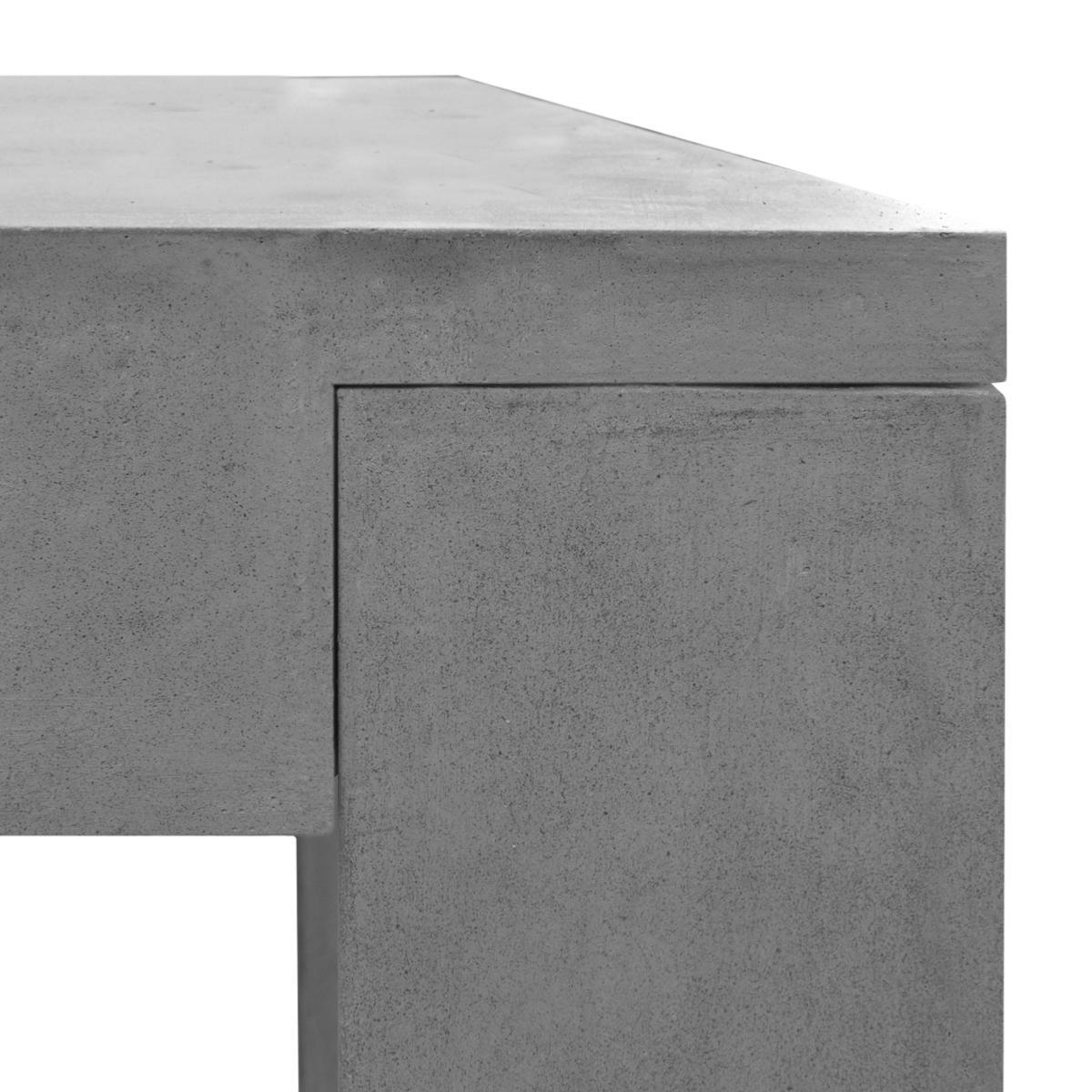 Salon de jardin en b ton complet table avec 6 tabourets - Beton autonivelant prix ...