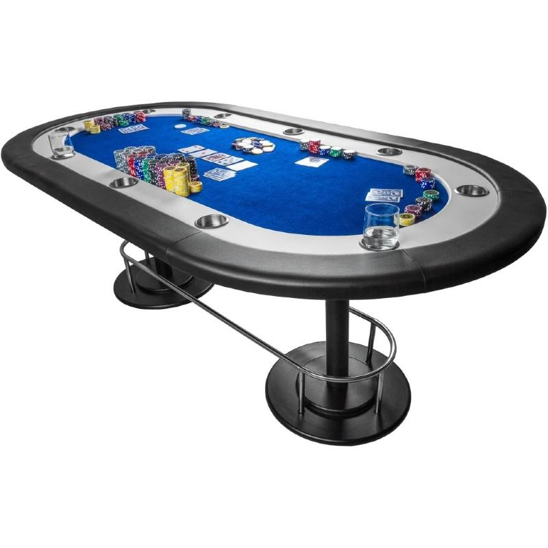 table de poker xxl 210 cm bleu 10 personnes. Black Bedroom Furniture Sets. Home Design Ideas
